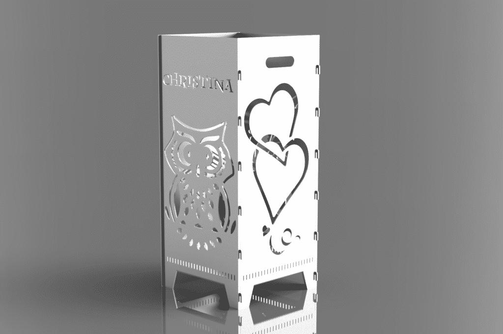 Feuerkorb personalisiert Hochzeit